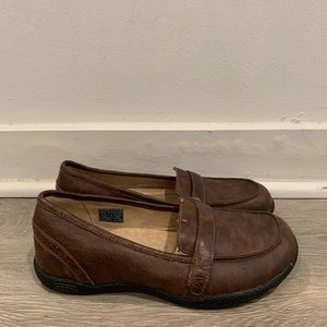 KEEN Cush Women's Brown Leather Loafer Size 7